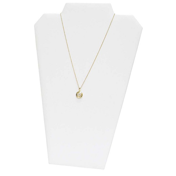 Necklace Display 1 Chain White Leatherette