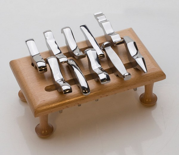 12 Piece Mini Stake Forming Set with Stand & Vise