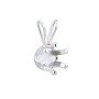 Snap & Set Pendant 6mm Round 4 Prong Sterling Silver (1-Pc)