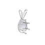 Snap & Set Pendant 7x5mm Oval 6 Prong Sterling Silver (1-Pc)