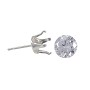 Snap & Set Earring 4mm Round 4 Prong Sterling Silver (1-Pc)
