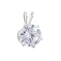 Snap & Set Pendant 8mm Round 6 Prong Sterling Silver (1-Pc)
