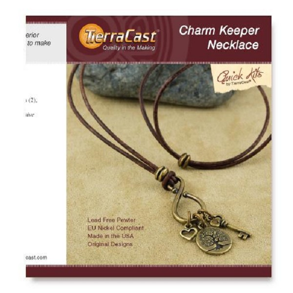 TierraCast Charm Keeper Necklace Kit
