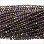 Purple Coated Spinel Faceted Beads 2mm (13 Inch Strand)