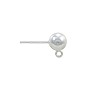 Ball Post Earring with Open Ring 6mm Sterling Silver (1-Pc)