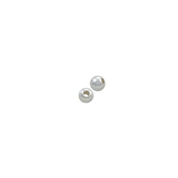 Round Bead Lightweight 3mm Sterling Silver (10-Pcs)