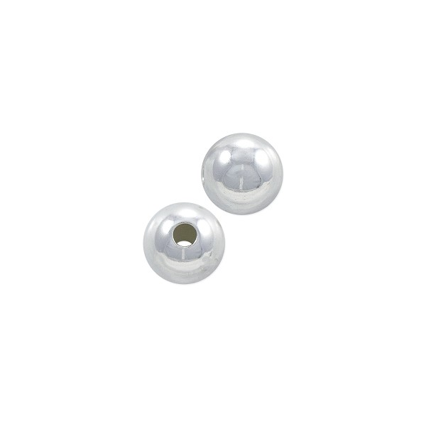 Round Bead 7mm Sterling Silver (1-Pc)