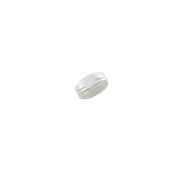 Oval Beads Corrugated 4.5x3mm Sterling Silver (1-Pc)