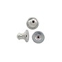 6x5mm Sterling Silver Ear Back With Rubber Insert (1-Pc)