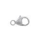 Lobster Clasp w/Soldered Closed Ring 9x5mm Sterling Silver (1-Pc)