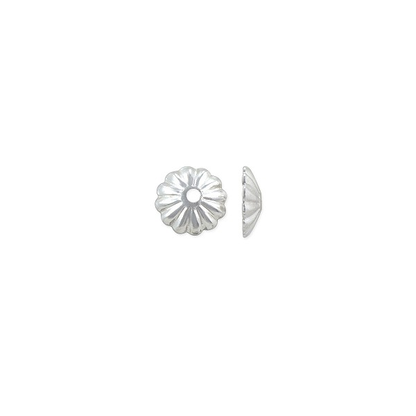 Bead Cap 6x1.5mm Sterling Silver (2-Pcs)