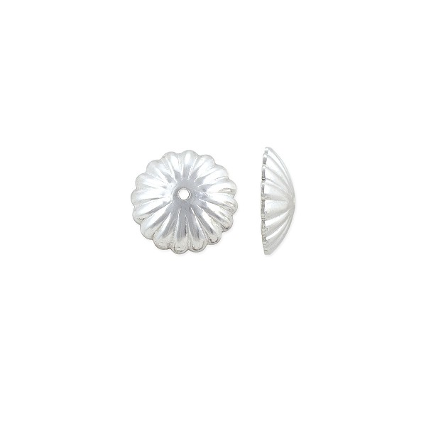Bead Cap 9x2mm Sterling Silver (1-Pc)