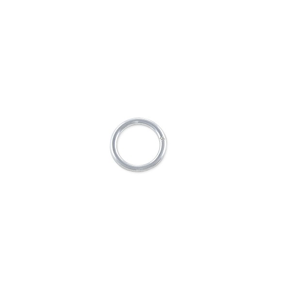 7mm Sterling Silver Round Closed Jump Ring (1-Pc)