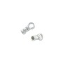 Crimp Tube Cord End 8x2.5mm Sterling Silver Seamless (1-Pc)