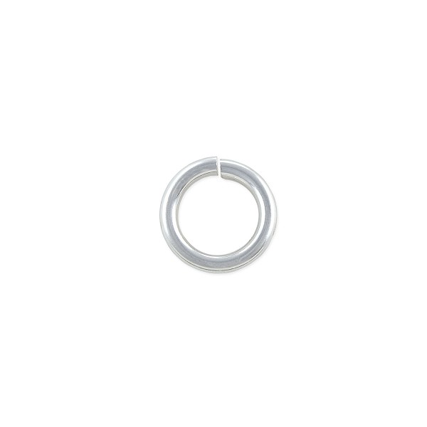 10mm Sterling Silver Round Open Twist Lock Jump Ring (1-Pc)
