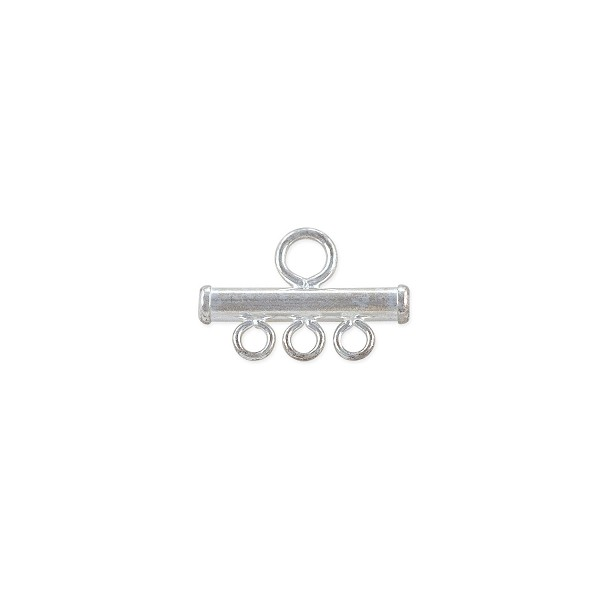 3-Strand End Bar 12mm Sterling Silver (1-Pc)