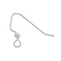 Ear Wire Fish Hook with 3mm Ball Sterling Silver (1-Pc)