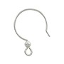 TierraCast Ear Wire Fish Hook with 2mm Bead Sterling Silver (1-Pc)