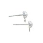 Half Ball Post Earrings with Loop 5mm Sterling Silver (1-Pc)
