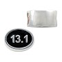 13.1 Mile Half Marathon Bead 12x9mm Sterling Silver