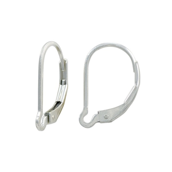 Lever Back Earring 15mm Sterling Silver (1-Pc)