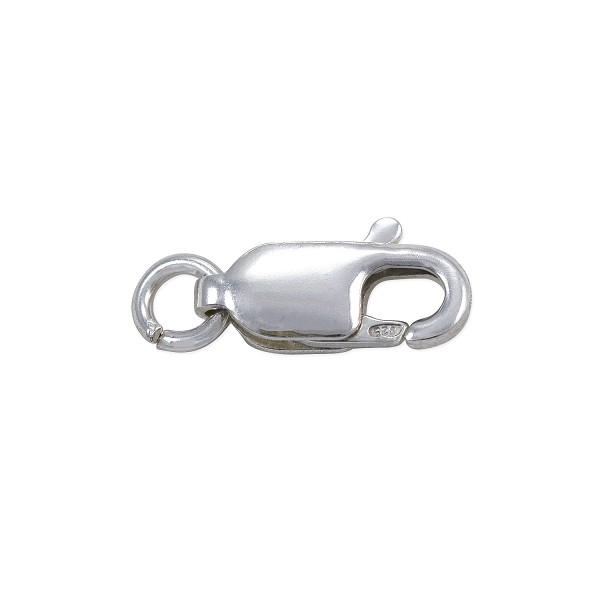 Lobster Claw Clasp - 10x4mm with Open Ring Sterling Silver (1-Pc)