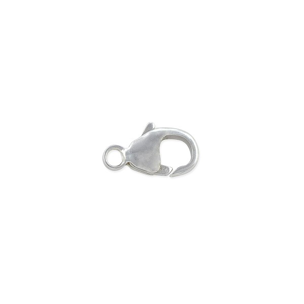 Lobster Clasp w/Soldered Closed Ring 11x6mm Sterling Silver (1-Pc)