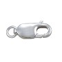 Lobster Claw Clasp - 14x6mm with Open Ring Sterling Silver (1-Pc)