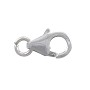 Lobster Clasp 11x6mm with Open Ring Sterling Silver (1-Pc)