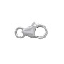 Lobster Clasp 9x5mm with Open Ring Sterling Silver (1-Pc)