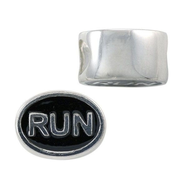 Run Bead 12x9mm Sterling Silver