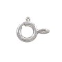 Spring Ring Clasp 7mm Sterling Silver Closed Ring (1-Pc)