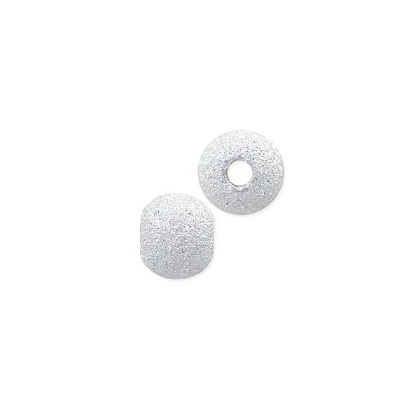 Stardust Bead 5mm Sterling Silver (1-Pc)