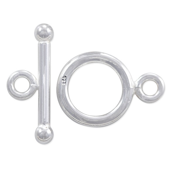 Toggle Clasp - 12mm Sterling Silver (Set)