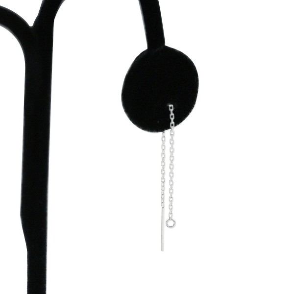 Ear Threaders Cable Chain with Open Ring Sterling Silver (1-Pc)