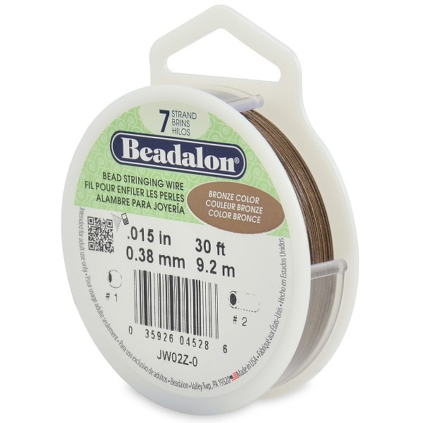 ".015"" Bronze 7 Strand Beadalon Wire (30 Feet)"