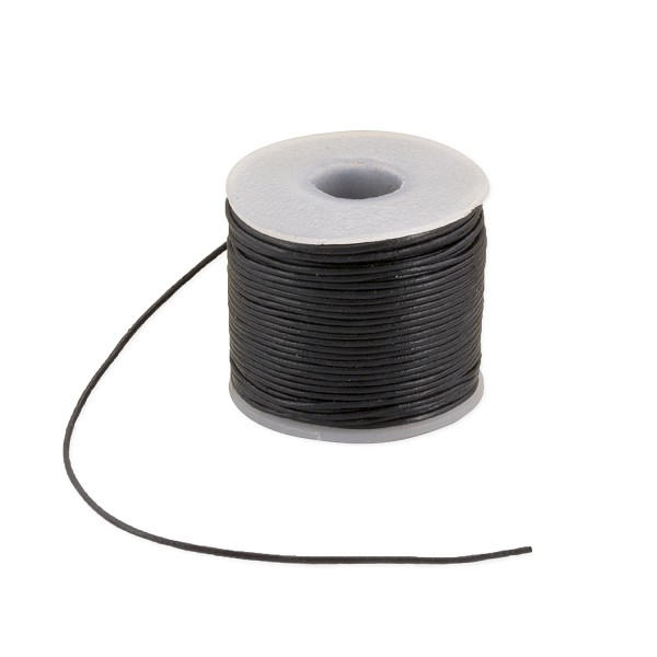 Leather Cord .5mm Shiny Black (25 Yards)