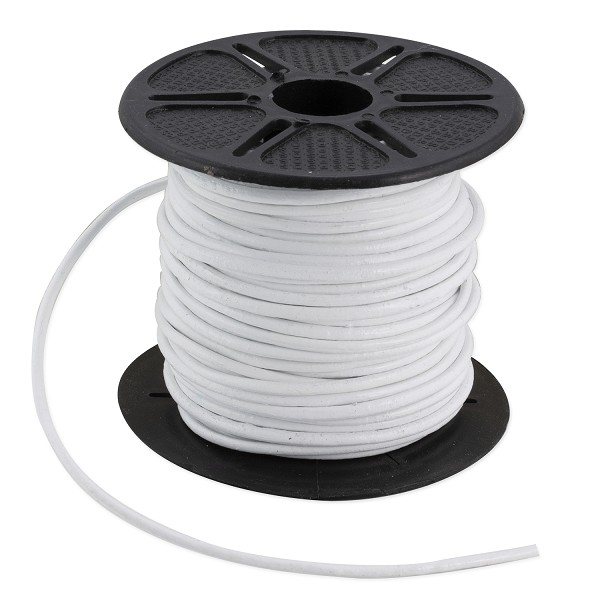 Leather Cord White 2mm (Priced per Yard)
