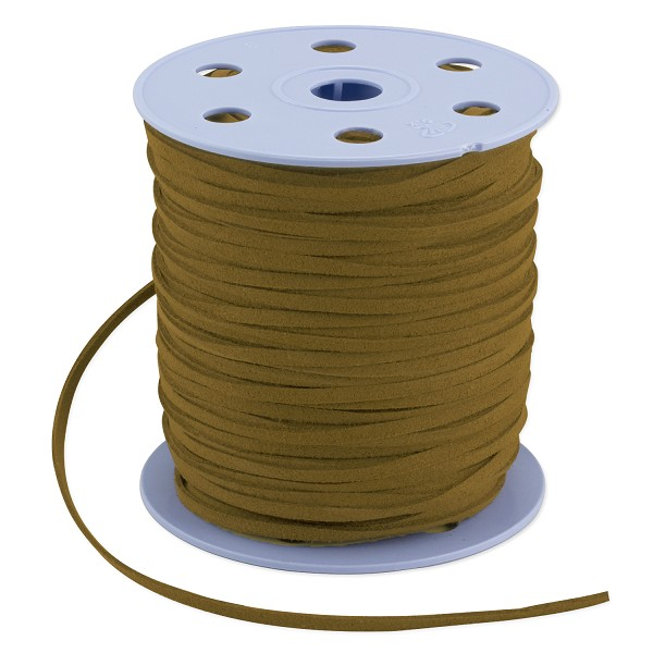 Ultra Micro Fiber Suede Cord Light Brown 3mm (Priced Per Yard)