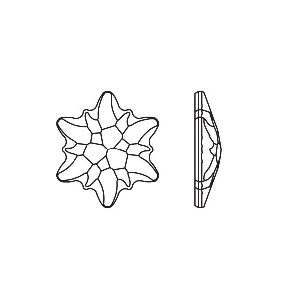 Swarovski 2753 10mm Crystal AB Edelweiss Hotfix Flat Back (1-Pc)
