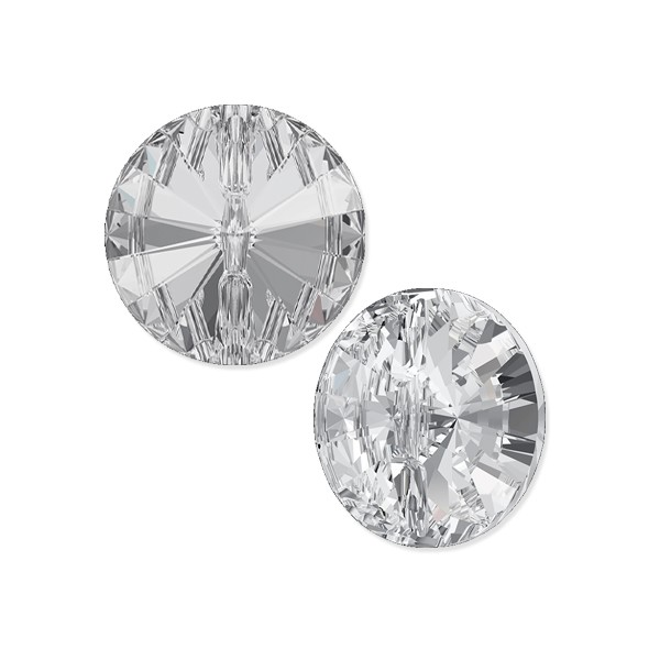 Swarovski Button 3015 12mm Crystal with Foil Back (1-Pc)