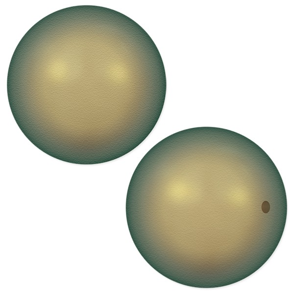 Swarovski 5810 8mm Iridescent Green Round Crystal Pearl (10-Pcs)