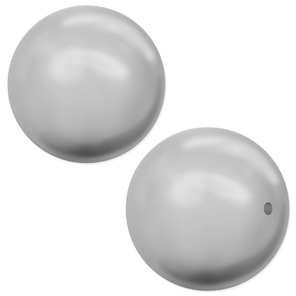 Swarovski 5810 8mm Light Grey Round Crystal Pearl (10-Pcs)