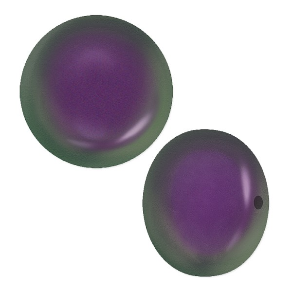Swarovski Crystal Coin Pearl 5860 12mm Iridescent Purple (1-Pc)