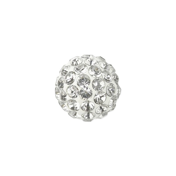Swarovski Crystal Pave Ball Bead 4mm Crystal (1-Pc)