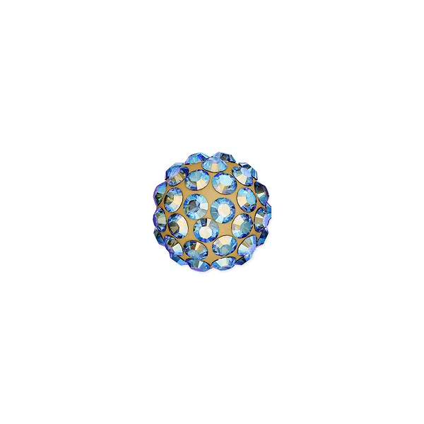 Swarovski Crystal Pave Ball Bead 6mm Light Colorado Topaz Shimmer (1-Pc)
