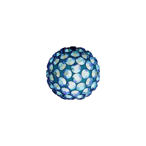 Swarovski Crystal Pave Ball Bead 8mm Light Sapphire Shimmer (1-Pc)