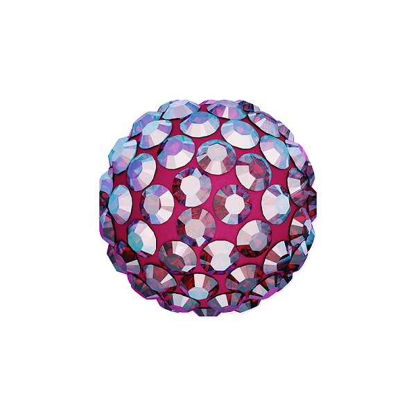 Swarovski Crystal Pave Ball Bead 10mm Light Siam Shimmer (1-Pc)