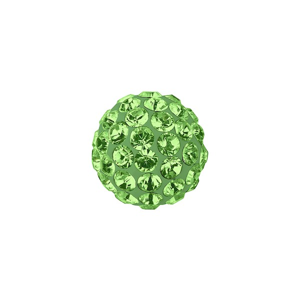 Swarovski Crystal Pave Ball Bead 6mm Peridot (1-Pc)
