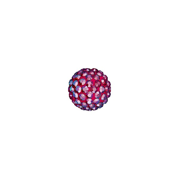 Swarovski Crystal Pave Pure Ball Half-Drilled Bead 8mm Light Siam Shimmer (1-Pc)